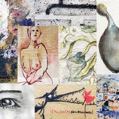 Pinta y dibuja en lienzos de Gres y Papel de porcelana